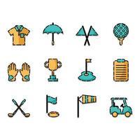 set di icone di golf vettore