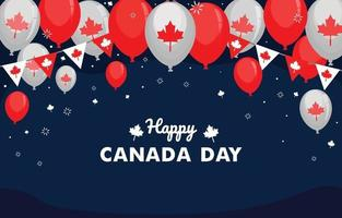 felice giorno di Canada sfondo vettore