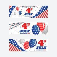 giorno dell'indipendenza 4 luglio banner vettore