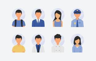 icona del personaggio di persone ritratto vettore