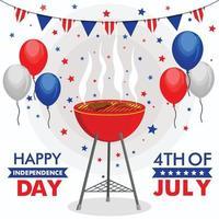 felice giorno dell'indipendenza 4 luglio vettore