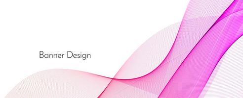 astratto elegante colore rosa decorativo moderno onda banner sfondo vettore