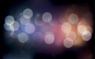 bokeh sfocato multicolore su uno sfondo scuro vettore