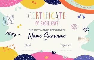 certificato di divertimento scolastico vettore