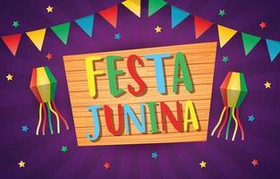 festa junina party vettore