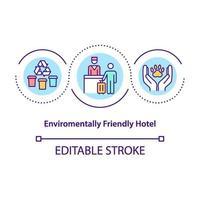 icona del concetto di hotel ecologico vettore