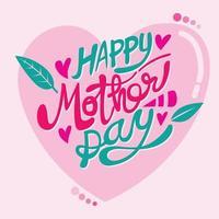 carta di festa della mamma nel disegno vettoriale