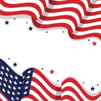4 luglio sfondo bandiera americana vettore