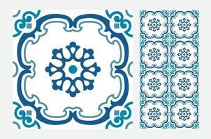 piastrelle d'epoca modelli portoghesi antico design senza soluzione di continuità in illustrazione vettoriale