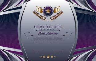 concetto di modello di certificato scolastico vettore