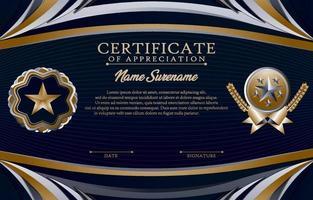 concetto di tamplate certificato scolastico vettore