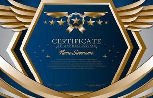 concetto di modello certificato di laurea vettore