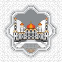 concetto di sfondo moschea ied vettore