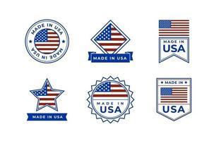 collezione logo made in usa vettore