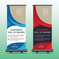 roll up banner per la tua attività vettore