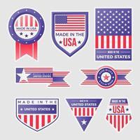 loghi di etichette made in united states of america vettore
