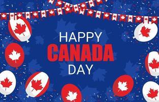 felice giorno del canada che celebra lo sfondo vettore