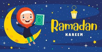 illustrazione disegnata a mano per il ramadan kareem e la cultura islamica vettore