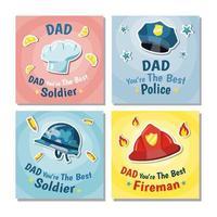 raccolta di carte di professione di giorno di padri vettore