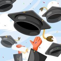 concetto di cappello di laurea vettore