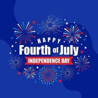 4 luglio sfondo del giorno dell'indipendenza vettore