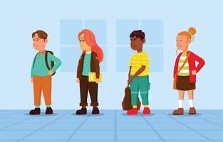 collezione di personaggi degli studenti vettore