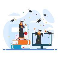 concetto di cerimonia di laurea vettore