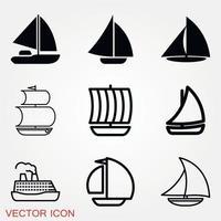 vettore icona barca