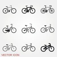 vettore icona bicicletta