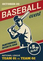 Volantino dell'evento del parco di baseball