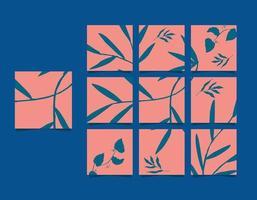 modelli di social media banner, blog, vendite di moda, presentazioni. puzzle con cornice quadrata completamente modificabile, poster di vendita vettore