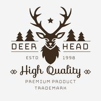 Testa di cervo Logo vettoriale
