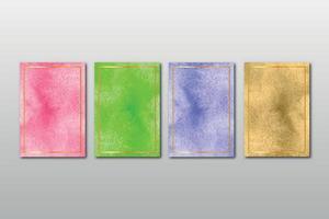 set di invito a nozze dipinto a mano minimalista creativo con sfondo astratto di arti dell'acquerello vettore