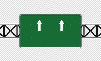 cartello stradale verde cartello stradale isolato su sfondo trasparente vettore