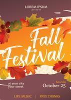 Disegno vettoriale Flyer Festival di caduta