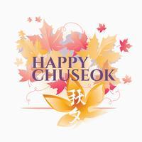 Chuseok coreano festa del ringraziamento o Chuseok vettore