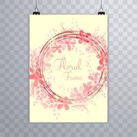 Modello dell'opuscolo floreale dell'acquerello astratto