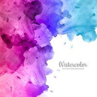 Elegante disegno acquerello colorato vettore