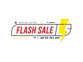 Flash vendita sconto offerta speciale banner prezzo sconto promozione vettore