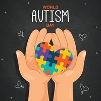 concetto di disegno della consapevolezza dell'autismo vettore