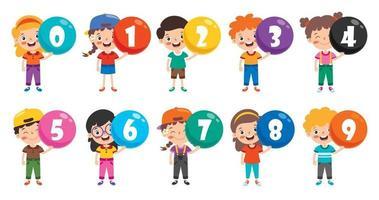 concetto di numeri multicolori vettore