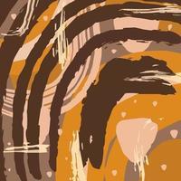 moderno sfondo marrone neutro modello astratto di moda con forme organiche, macchie, linee, punti, in morbidi toni pastello marroni. illustrazione vettoriale