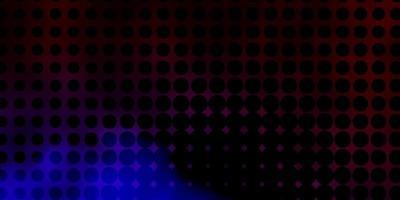 trama vettoriale blu scuro, rosso con dischi.