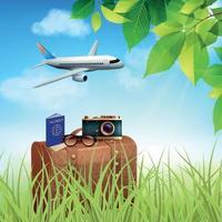 illustrazione di vettore di concetto colorato realistico vacanze estive