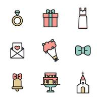 Delineato le icone del matrimonio