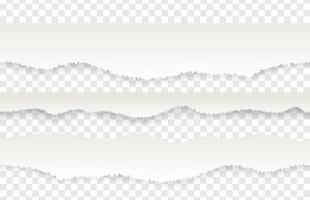 modello senza cuciture realistico di bordo di carta strappata di pagine strappate o strappate vettore