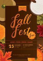 Disegno vettoriale Flyer Fall Fest