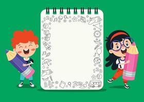carta per appunti in bianco per l'educazione dei bambini vettore