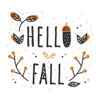 Ciao autunno vettoriale