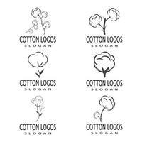 cotone logo modello vettoriale simbolo natura